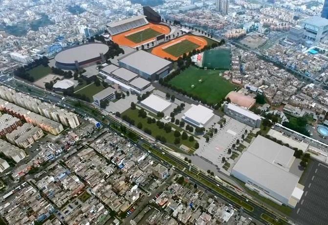 Supervisaran avances de tres principales obras de infraestructura deportiva