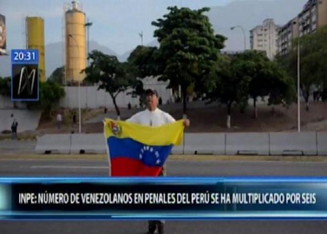 INPE: La cantidad de presos venezolanos en cárceles peruanas se ha multiplicado por seis.