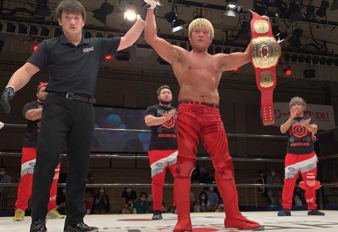 NOAH: Kenou se coronó nuevo Campeón Nacional GHC