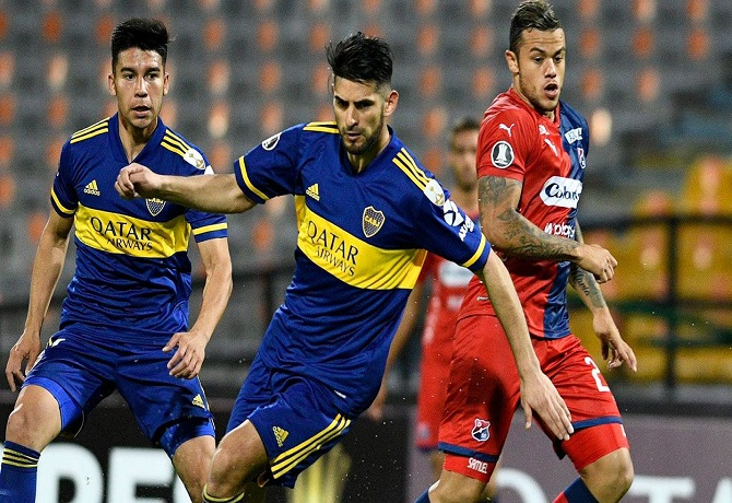 Carlos Zambrano fue titular en victoria de Boca sobre DIM
