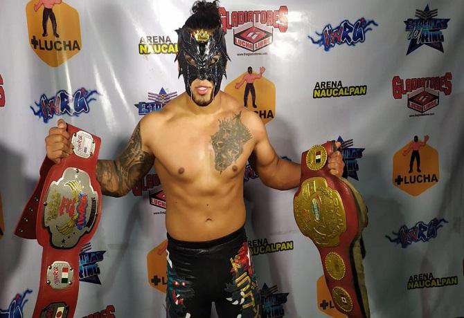 Dragon Bane se coronó Campeón Intercontinental de Peso Medio de IWRG