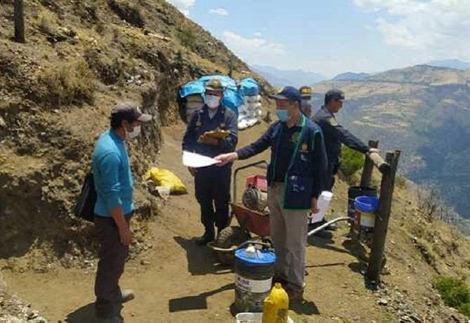 Incautan explosivos y equipos para minería en Apurimac