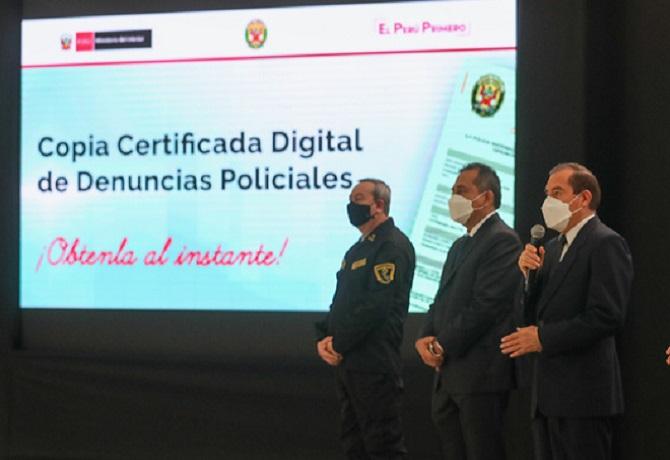 Lanzan servicio online para acceder digitalmente a copias de las denuncias efectuadas en las comisarías