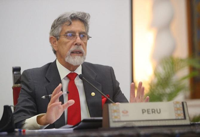 Presidente Sagasti participo en foro virtual de APEC