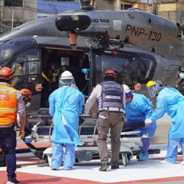 Hombre es llevado a emergencias en helicóptero tras caer de su parapente