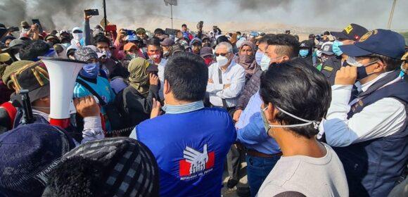 Minsa realiza acciones de contingencia ante movilizaciones sociales en la región Ica