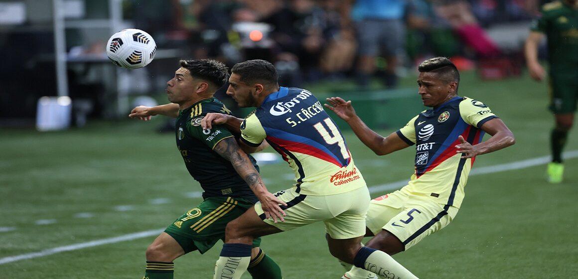 Portland Timbers y América igualaron 1-1 en Oregón con Aquino de titular