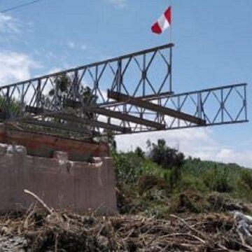 Inician trabajos de puentes modular en La Libertad para mejorar transito frente a derrumbes