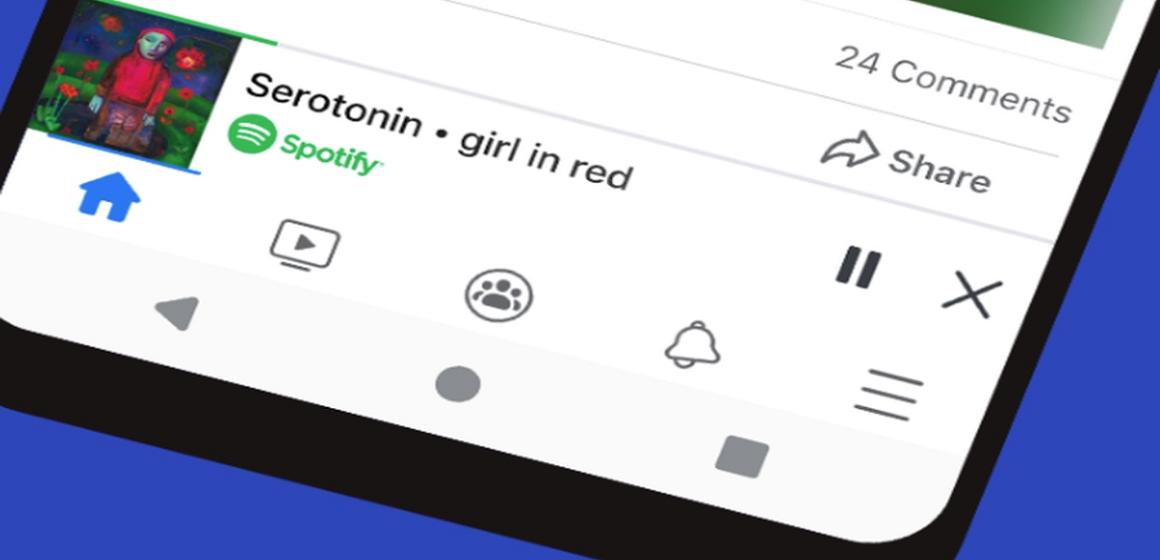 Facebook permite escuchar música compartida de Spotify con nuevo reproductor integrado