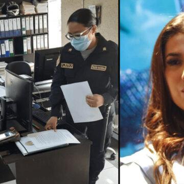 Yahaira Plasencia se presentó en la comisaría de Cieneguilla para pagar una multa