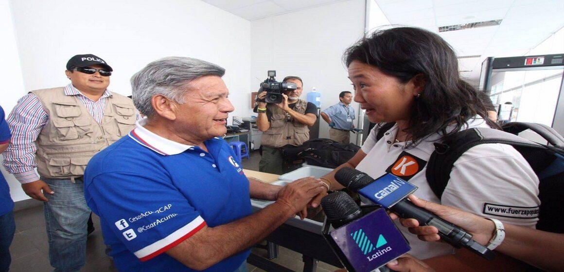 César Acuña apoyará a Keiko Fujimori en la segunda vuelta