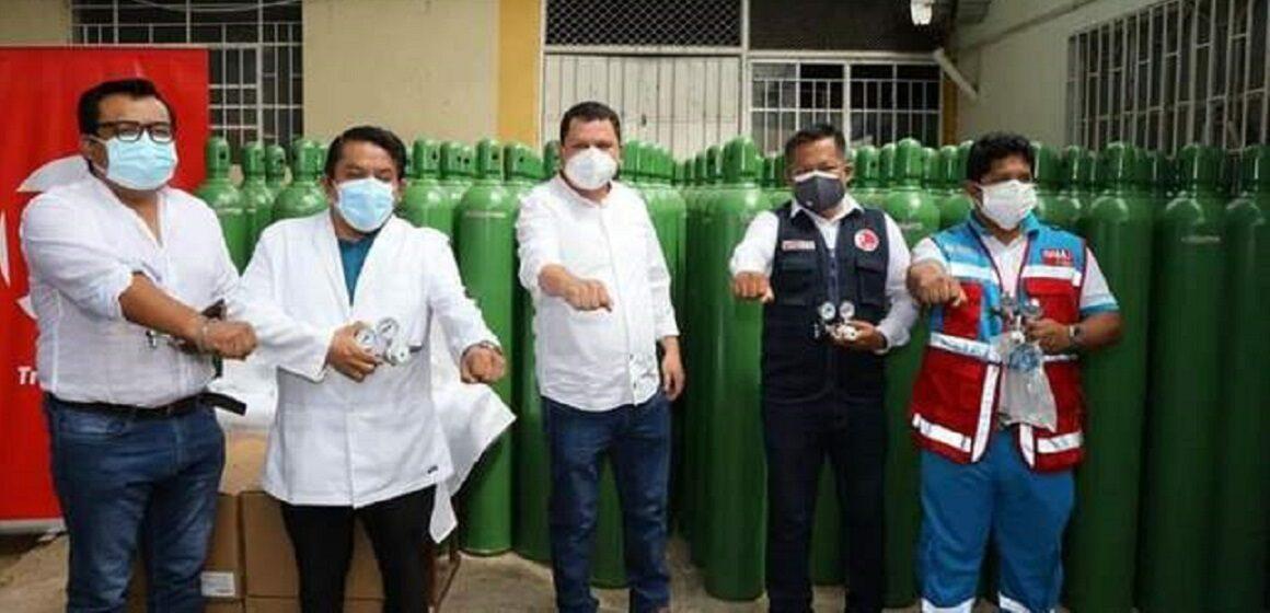 Dirección Regional de Salud recibe 500 balones de oxígeno a fin de reducir la demanda de oxigeno