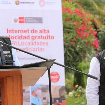 Presidente Sagasti puso en funcionamiento el proyecto de banda ancha para la región Lima