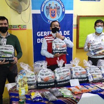 Midis Qali Warma entrega más de 83 toneladas de alimentos a municipalidades de Carabayllo, Comas e Independencia