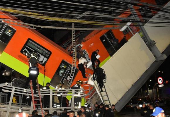 CDMX: al menos 24 muertos tras el desplome de un tramo del metro