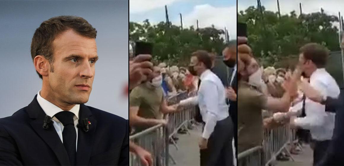Condenan a 18 meses al hombre que abofeteó a Emmanuel Macron