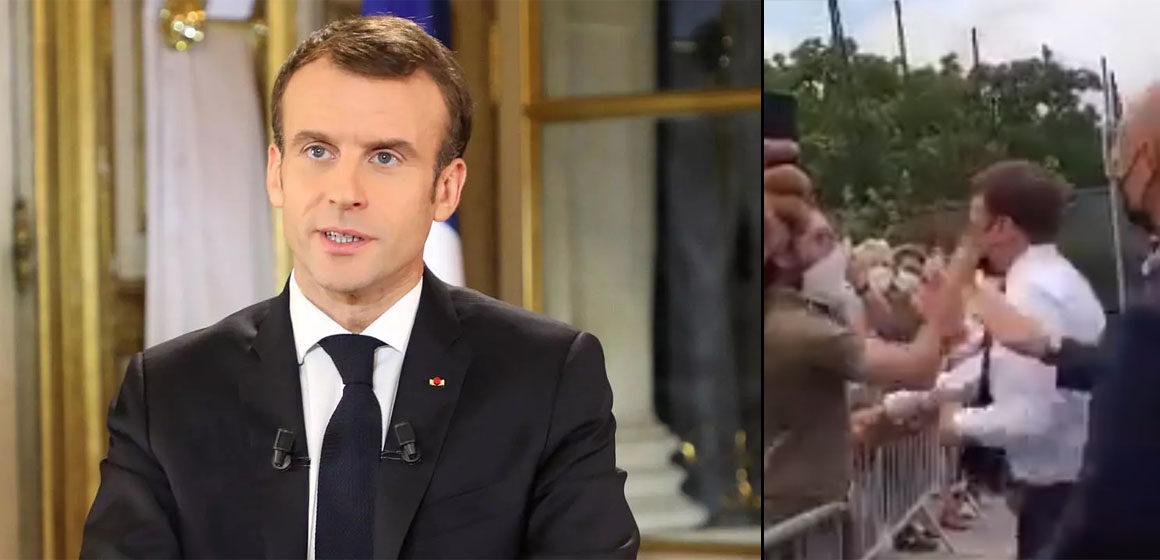 Emmanuel Macron es abofeteado durante su visita al sur de Francia