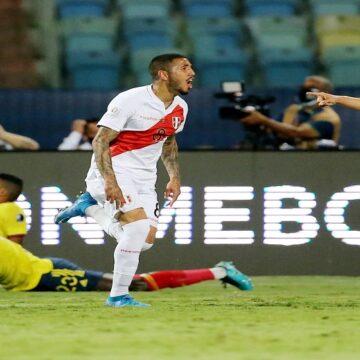 Perú ganó a Colombia por 1-2 gracias a un autogol de Yerry Mina