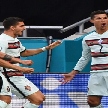 Portugal goleó 0-3 a Hungría en Budapest con doblete de Cristiano Ronaldo