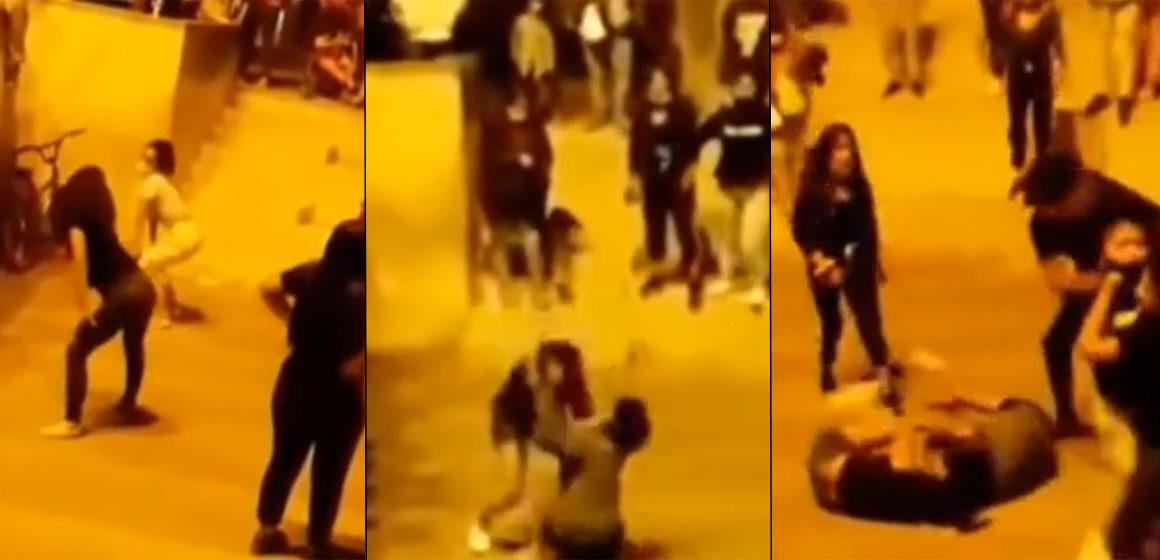 'Tiktokeros' realizan concurso en vía pública y termina en violenta pelea