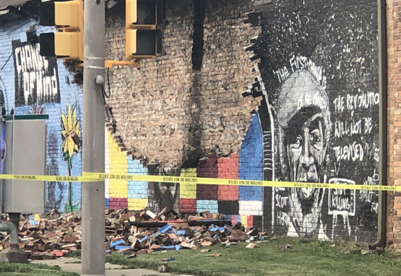 Ohio: un rayo destruye un mural de George Floyd