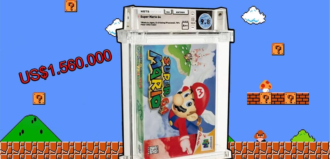 Pagan más de un millón y medio de dólares por un cartucho de 'Super Mario 64'