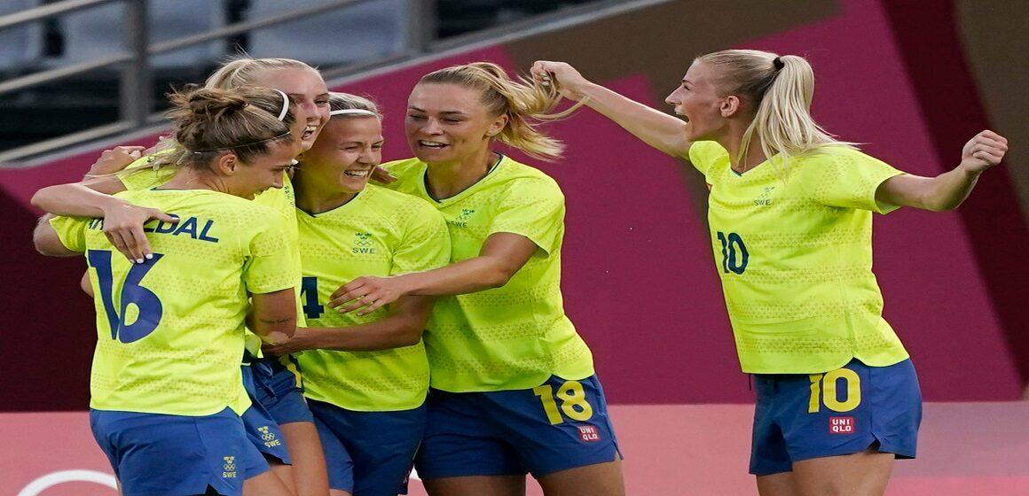 Suecia debutó en los Juegos Olímpicos goleando a Estados Unidos por 3-0