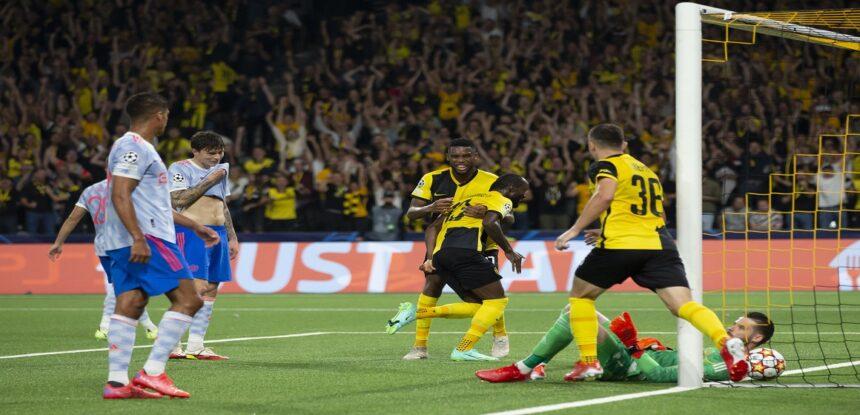 Young Boys consiguió una victoria histórica en el último minuto ante Manchester United