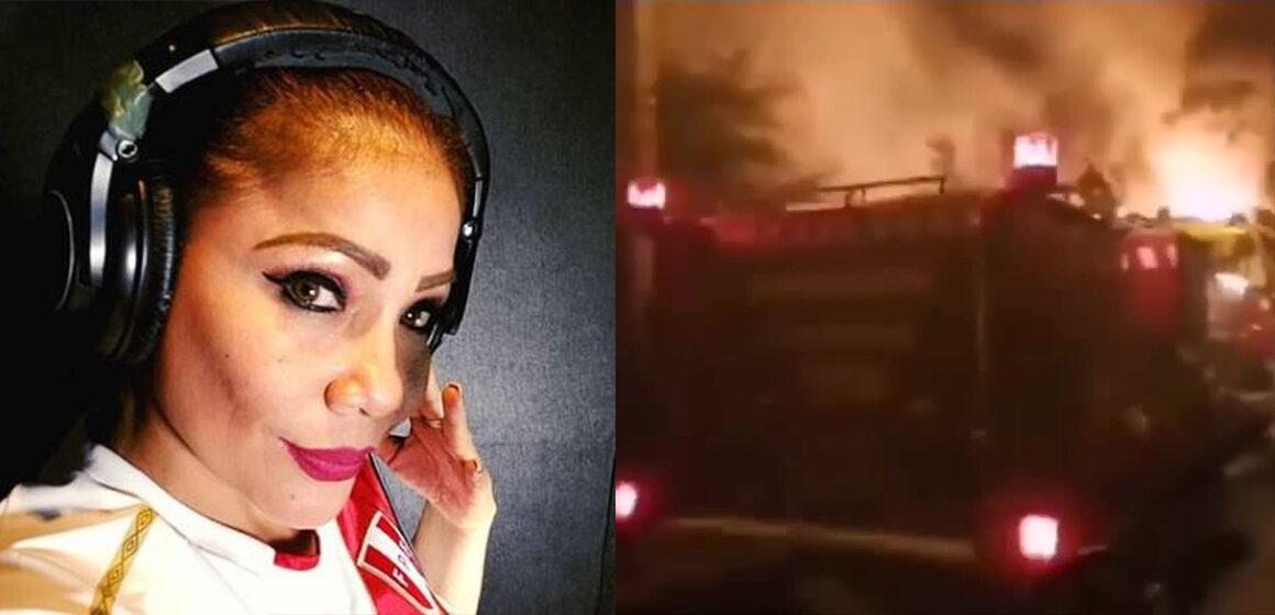 Marisol: incendio se desata en su concierto y tuvo que ser evacuada por río
