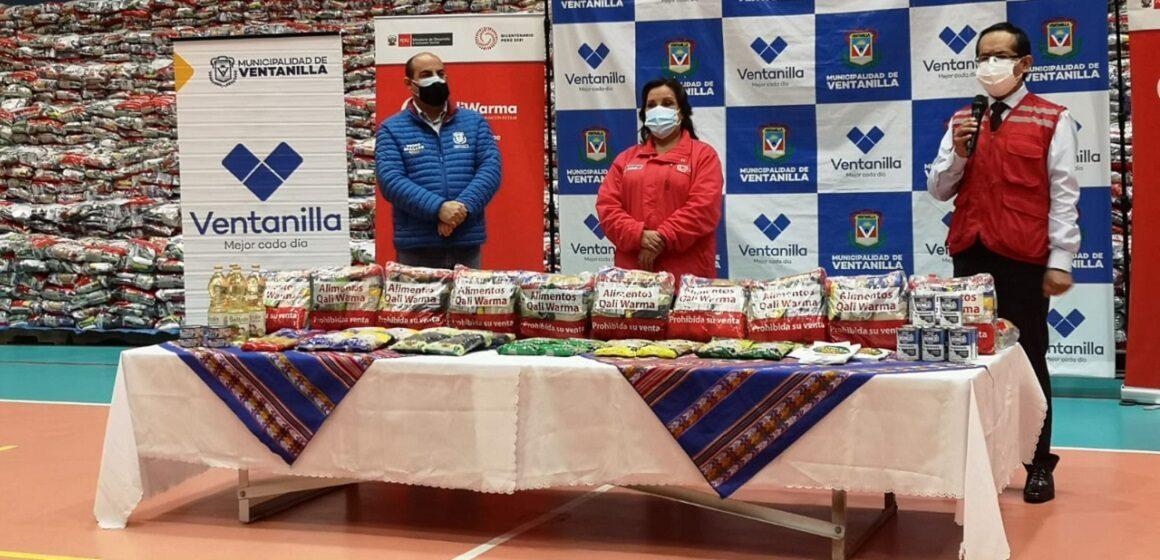 Ministra Dina Boluarte entregó más de 87 toneladas de alimentos nutritivos y de calidad a municipalidades de Ventanilla y Comas