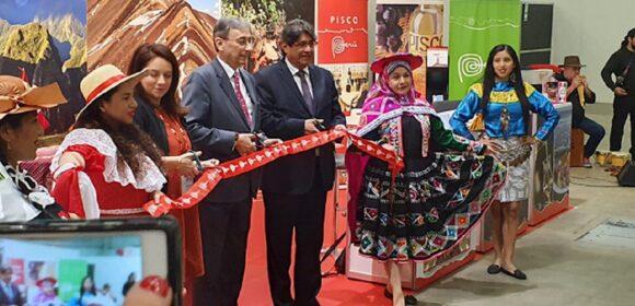 Inauguración stand del Perú en feria gastronómica OMNIVORE