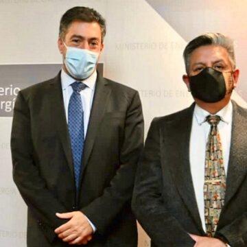 Ministro Merino se reunio el Presidente del Grupo de Energía de Bogotá