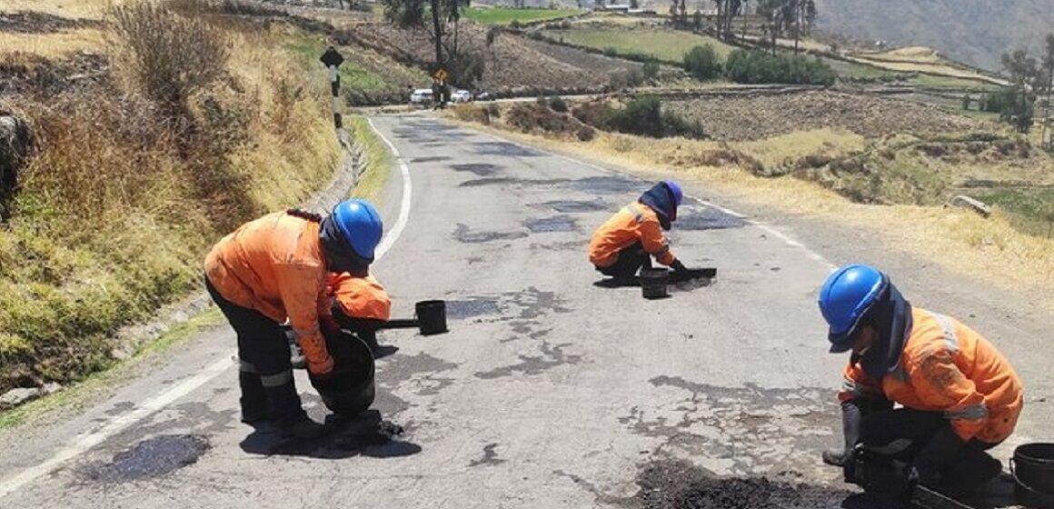 MTC realiza trabajos de conservación en la ruta Cora Cora–Puquio en Arequipa